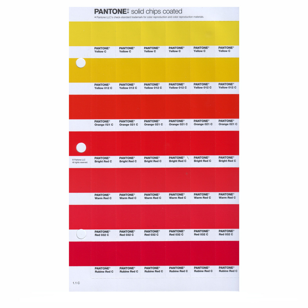 Pantone New Plus Solid Chips Coated Page 184C