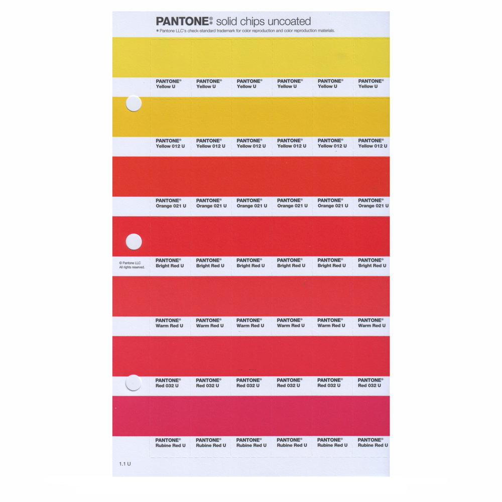 Pantone New Plus Solid Chips Uncoated Pg 174U