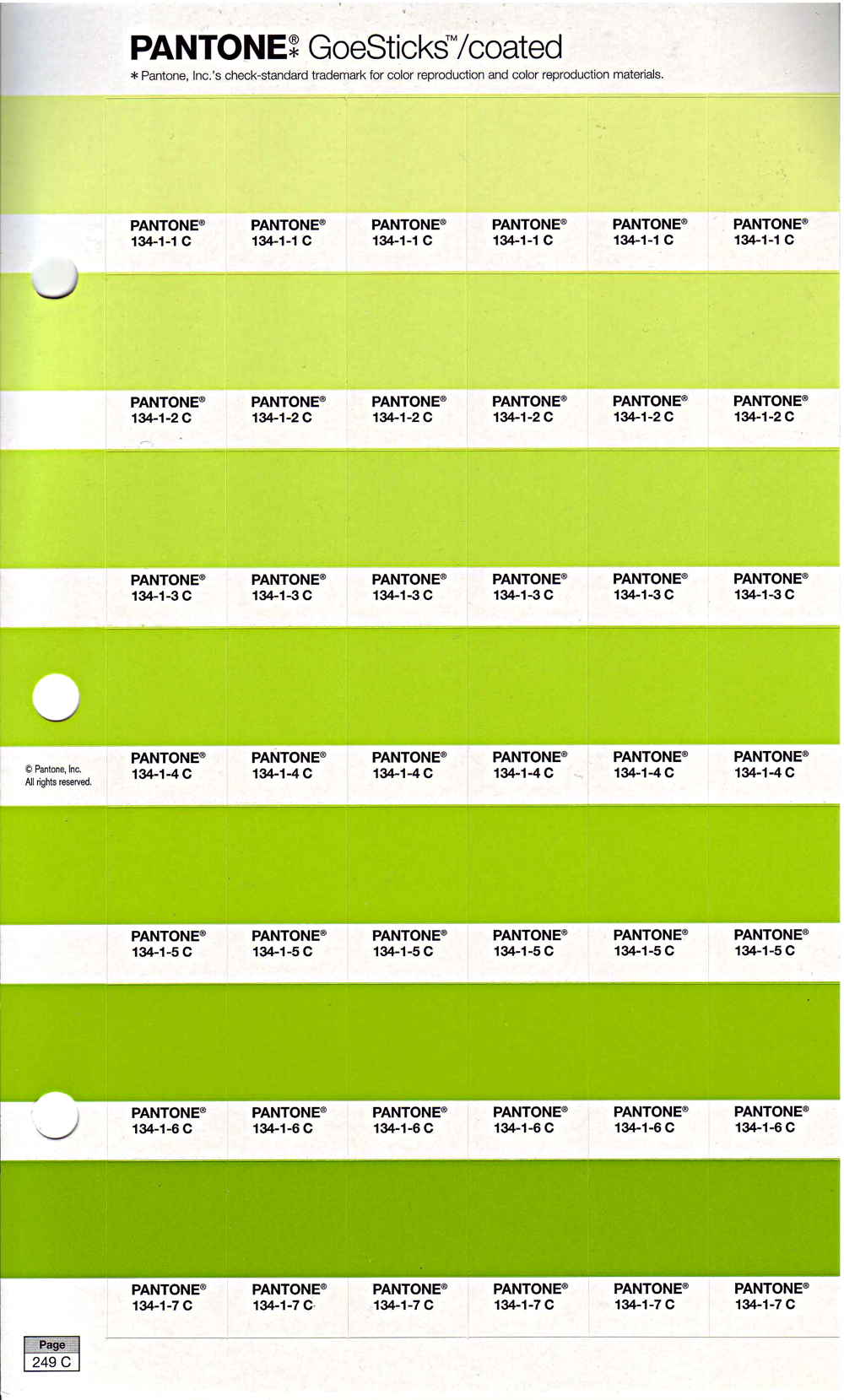 Pantone Goe Coated Chip Pages
