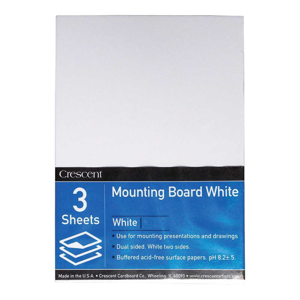Crescent 3/Pack 11X14 White Mounting Board