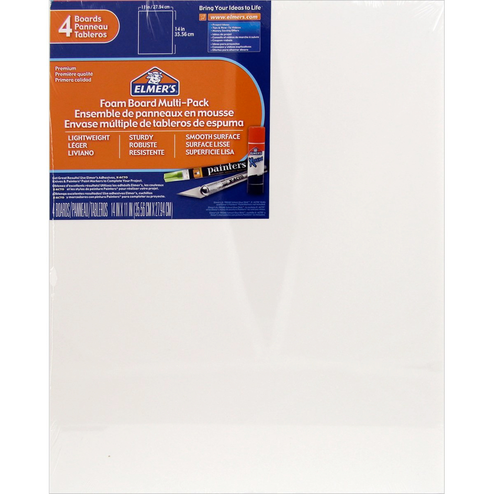 Foamboard 11X14X3/16 Pack Of 4