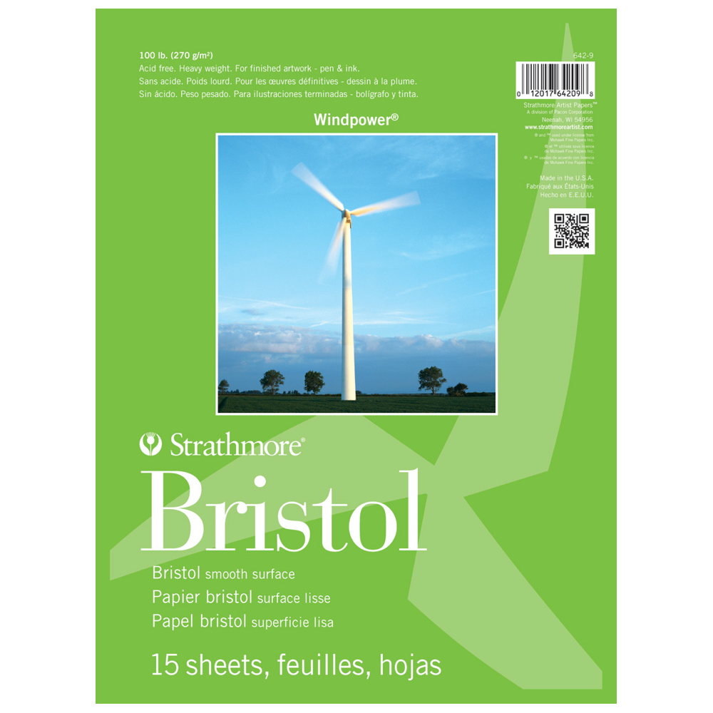 Strathmore Windpower Smooth Bristol Pad 14X17