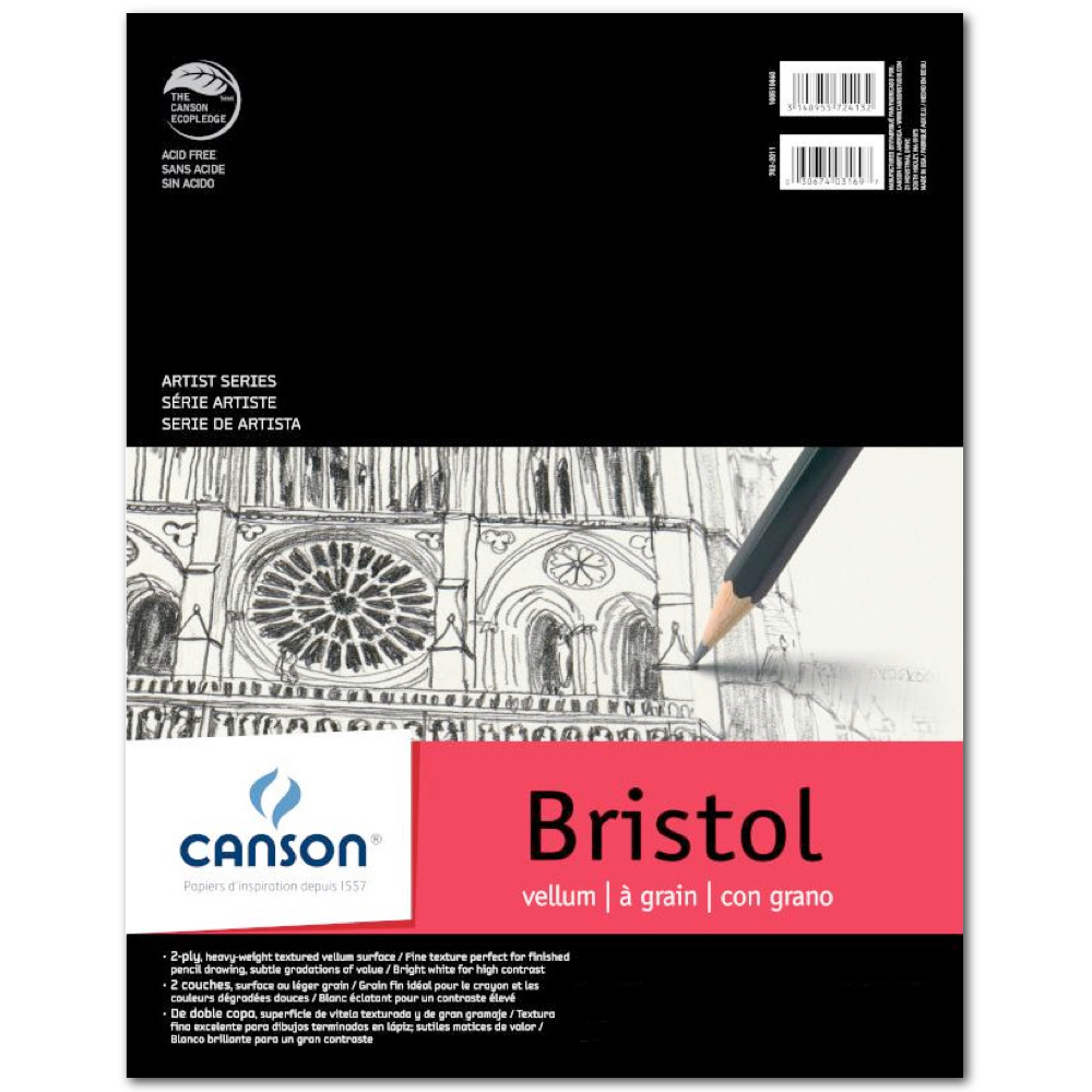 Canson Foundation Bristol Smooth 11X14 Pad