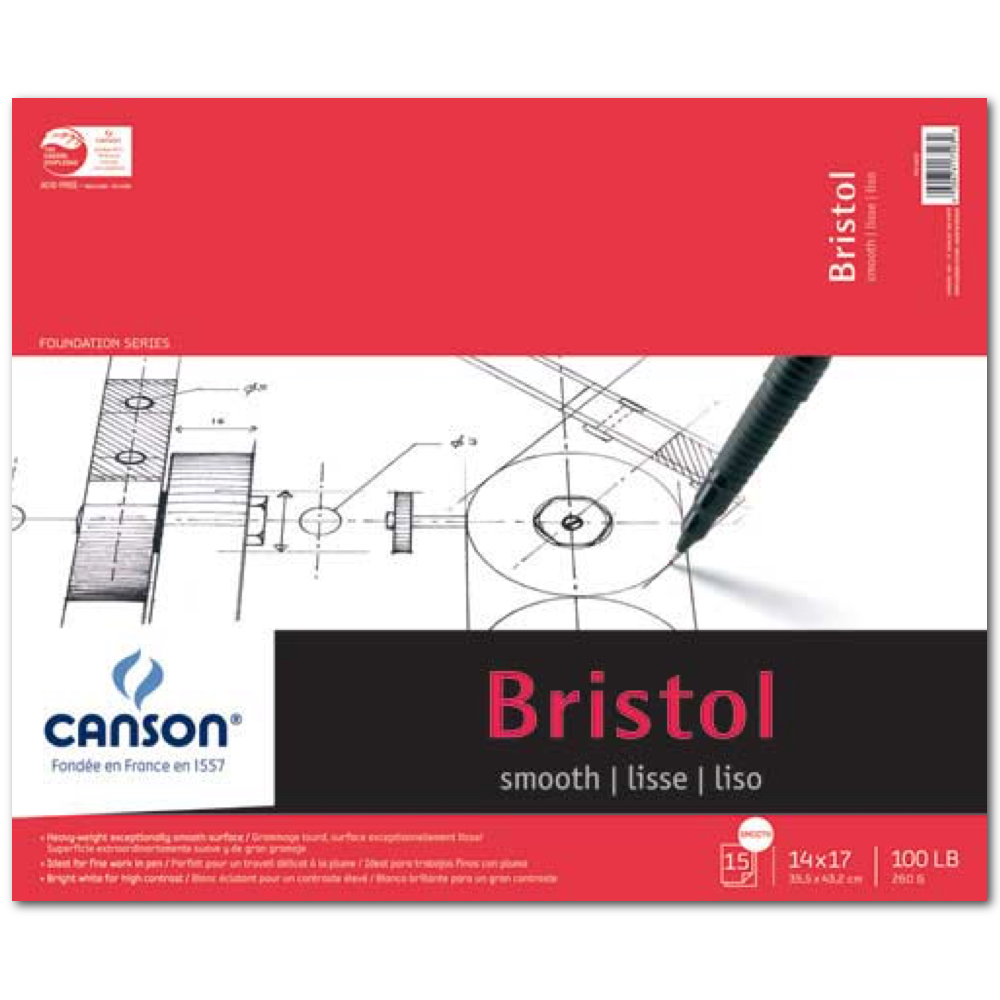 Canson Foundation Bristol Smooth 14X17 Pad