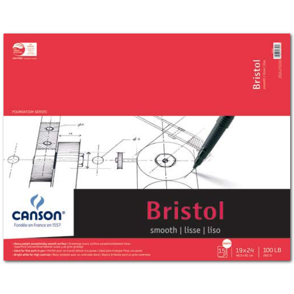 Canson Foundation Bristol Smooth 19X24 Pad