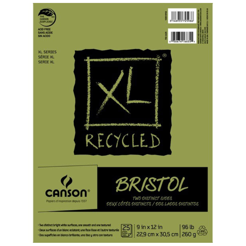 Canson Xl Recycled Bristol S+v 9X12 Pad