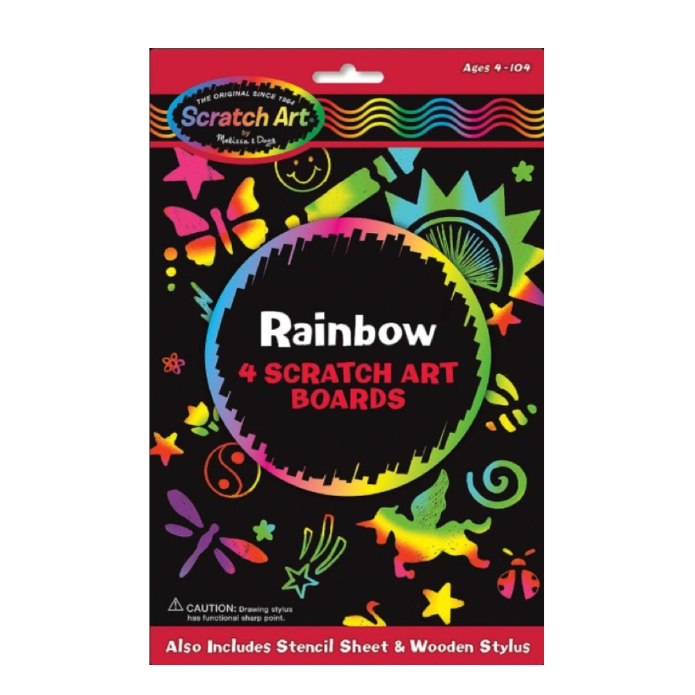 Scratch Magic Rainbow Black 5X8