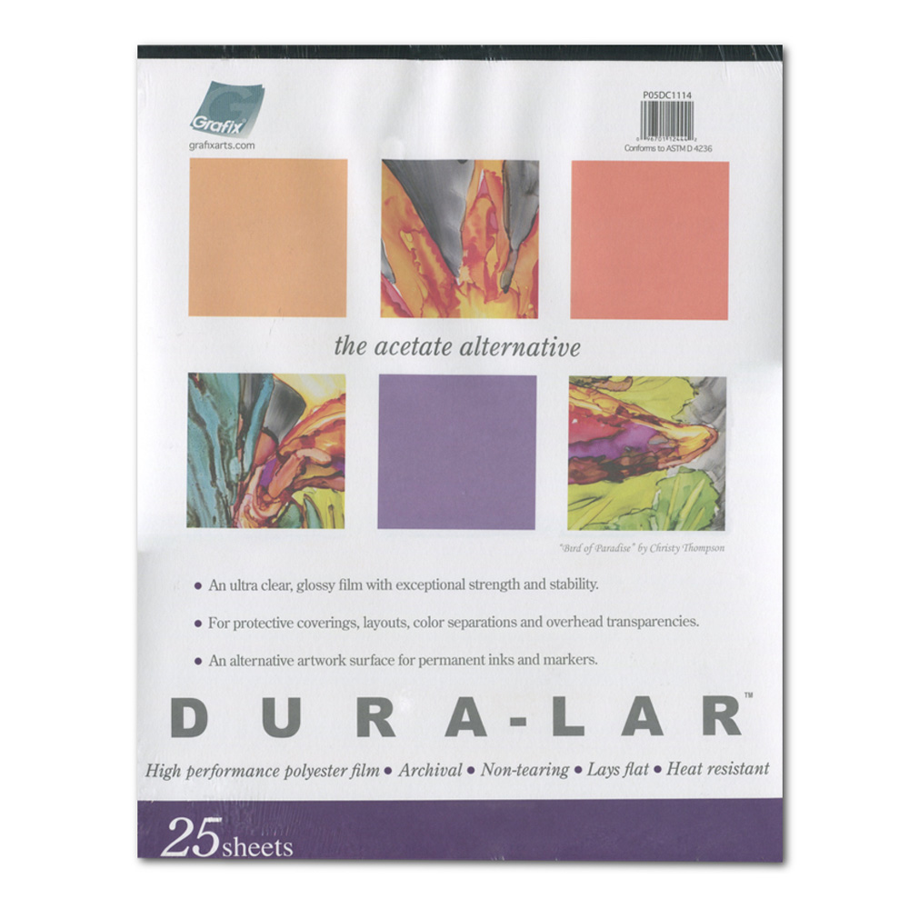 Clear Duralar .003 25 Sheet Pad 9X12