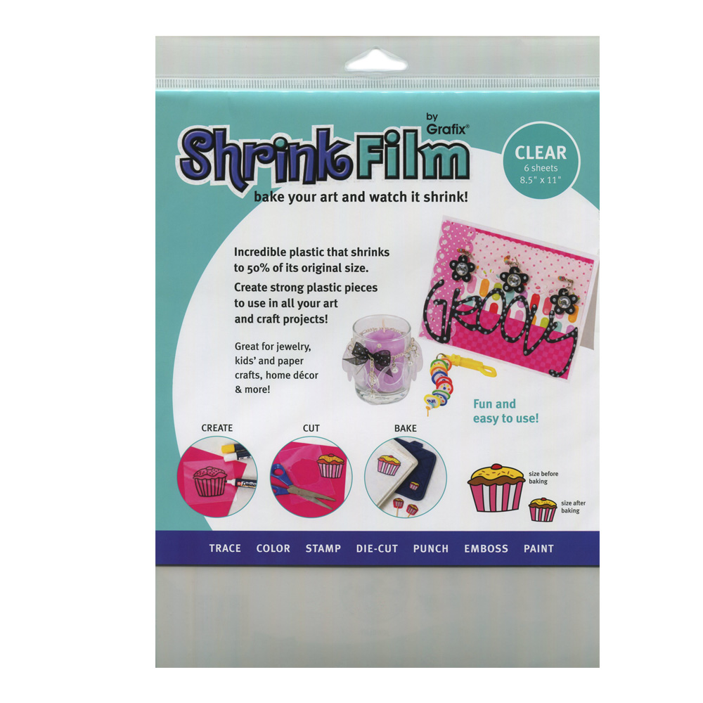 Grafix Shrink Film 8.5X11 Clear 6/Pack