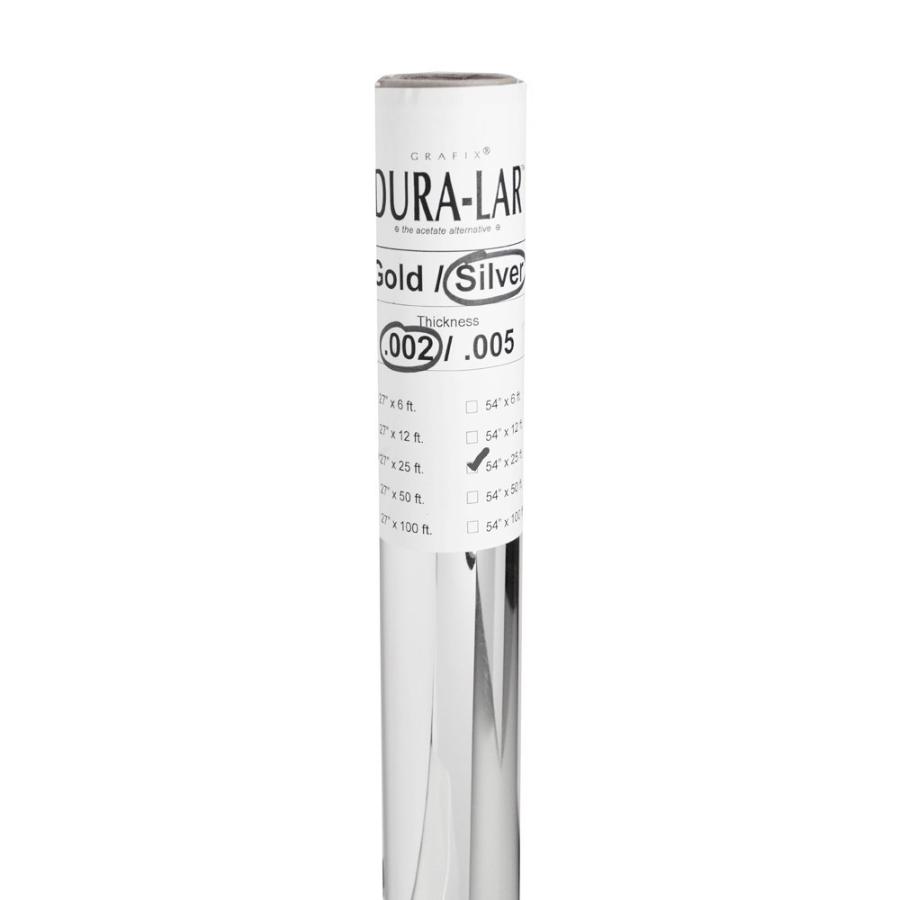 Silver Duralar Non-Adhesive 54In X 25Ft Roll