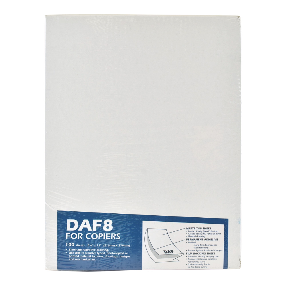 Drafting Applique Film Daf8 8.5X11 Pkg 100