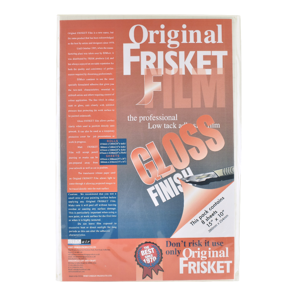 Original Frisket Low Tack Gloss 10x15in 8/Pk
