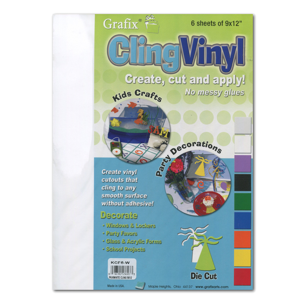 Grafix Cling Vinyl Film