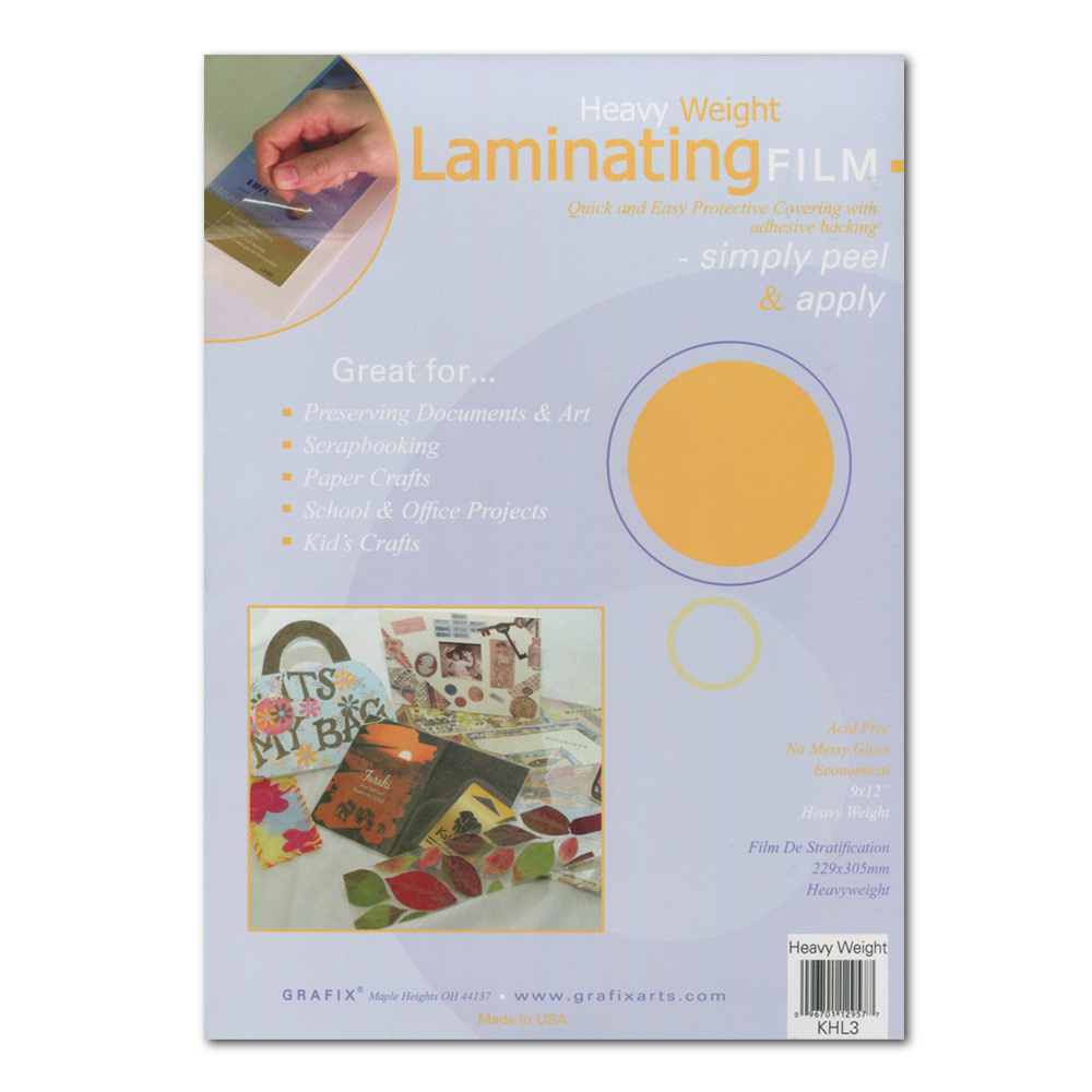 Grafix Laminating Film .005 9X12 Pkg 3