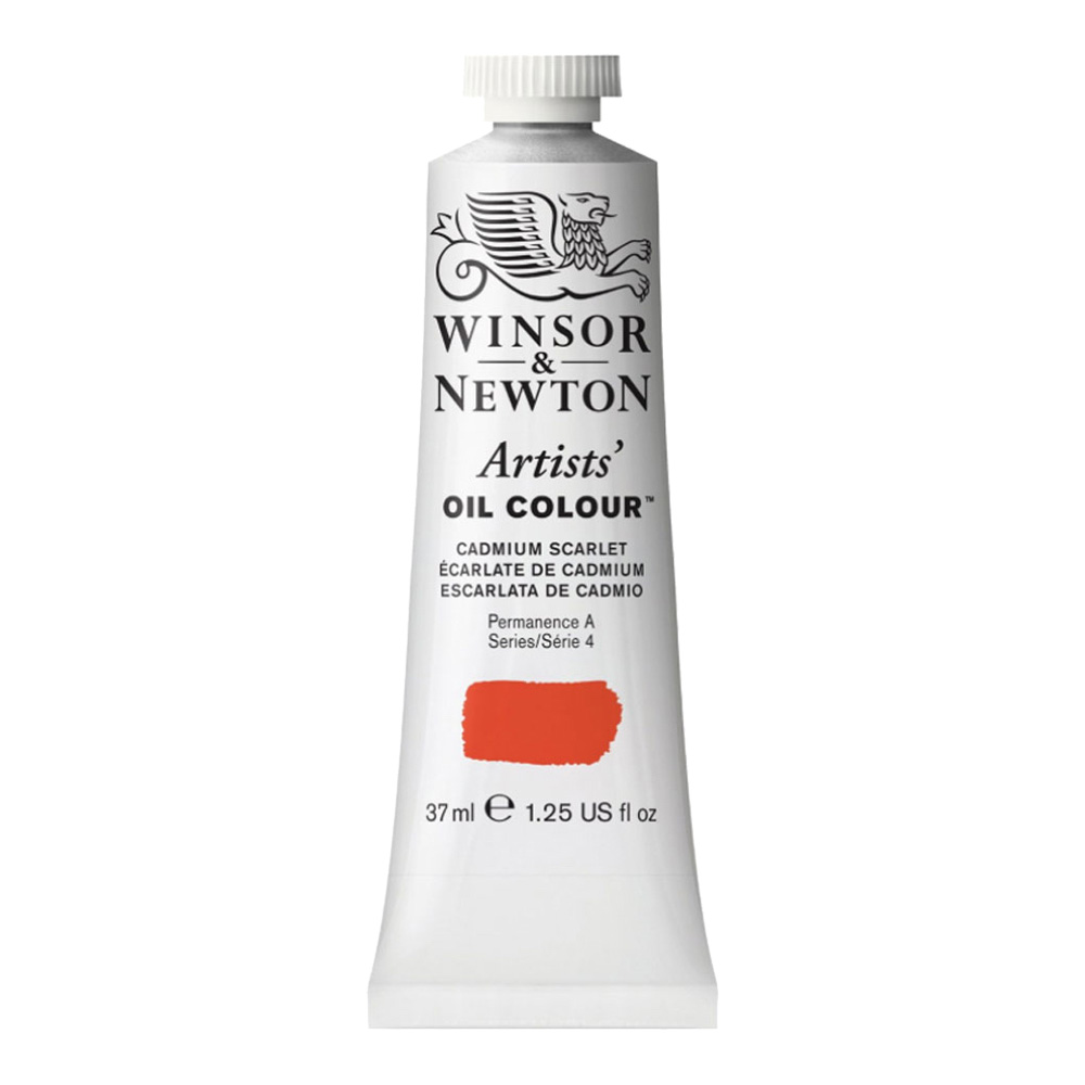 W&N Artist Oil 37Ml Cadmium Scarlet