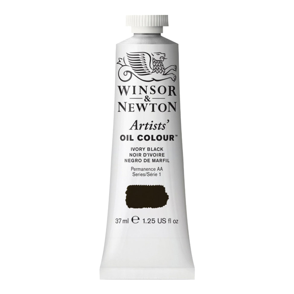 W&N Artist Oil 37Ml Ivory Black