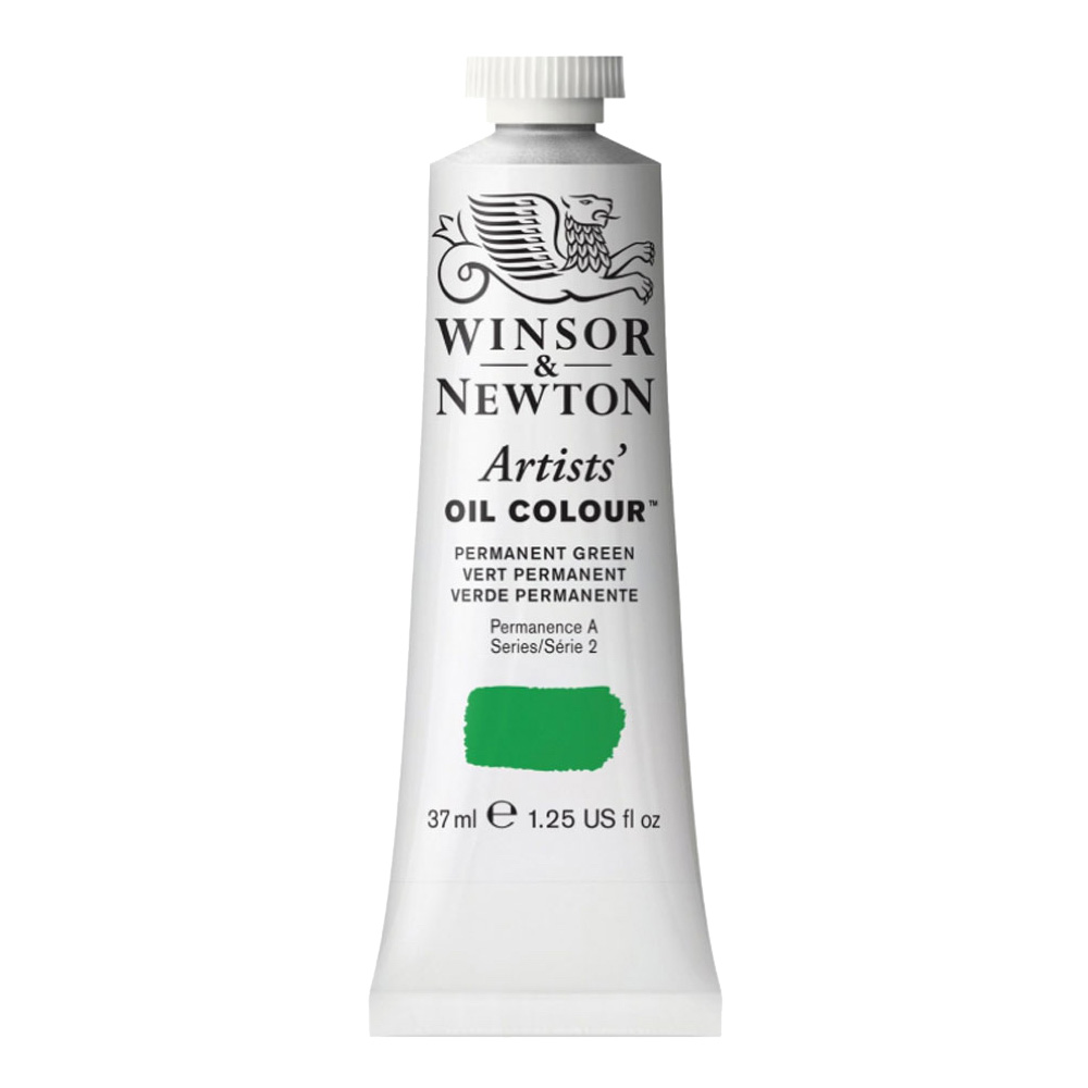W&N Artist Oil 37Ml Permanent Green