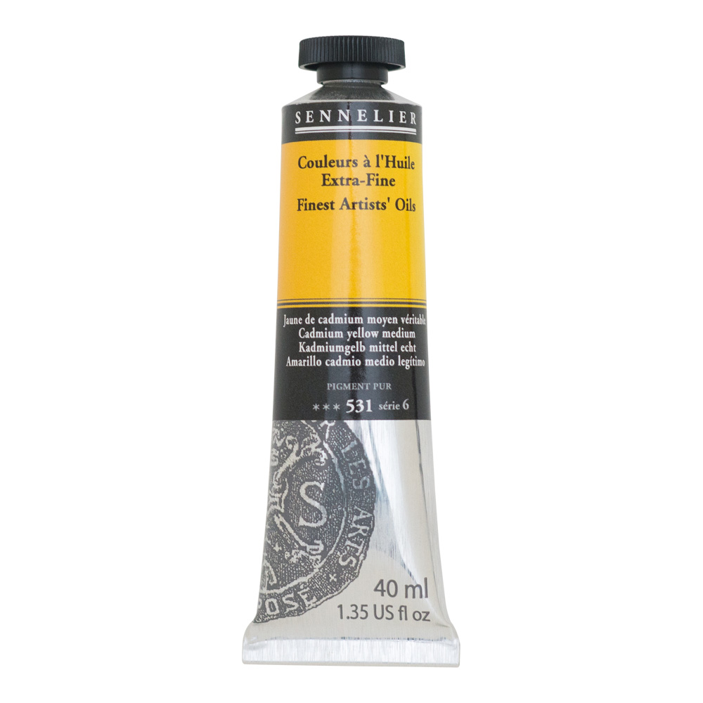 Sennelier Oil 40ml S6 Cadmium Yellow Medium