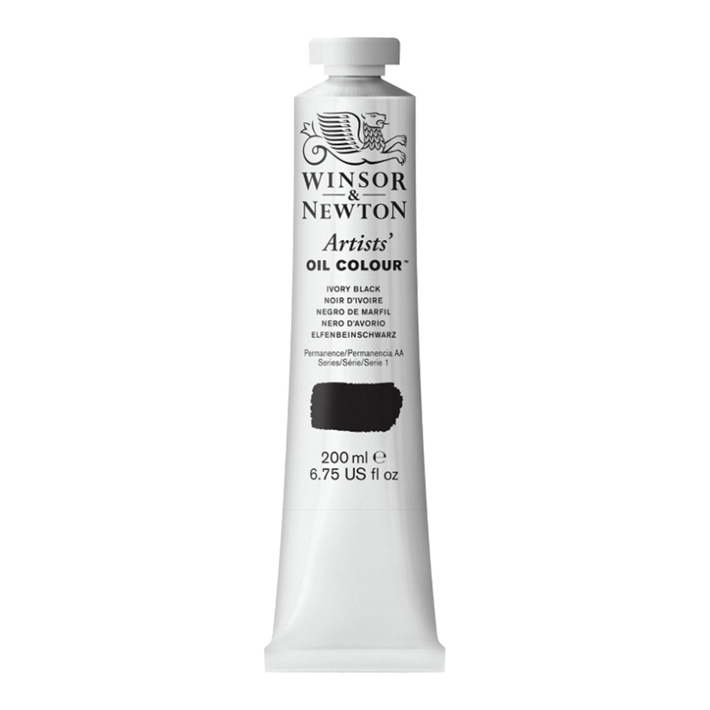 W&N Artist Oil 200Ml Ivory Black