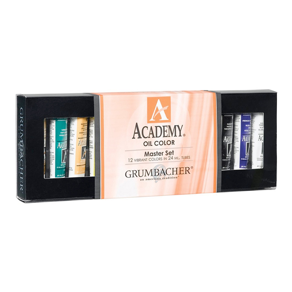 Grumbacher Academy Oil Master 12 X 24Ml Set