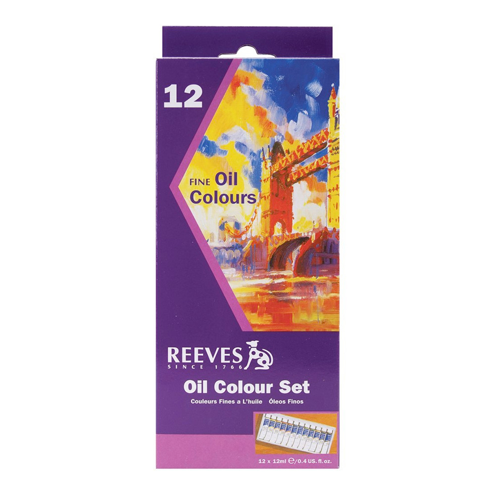 Reeves Oil 12 Tube Set 12Ml