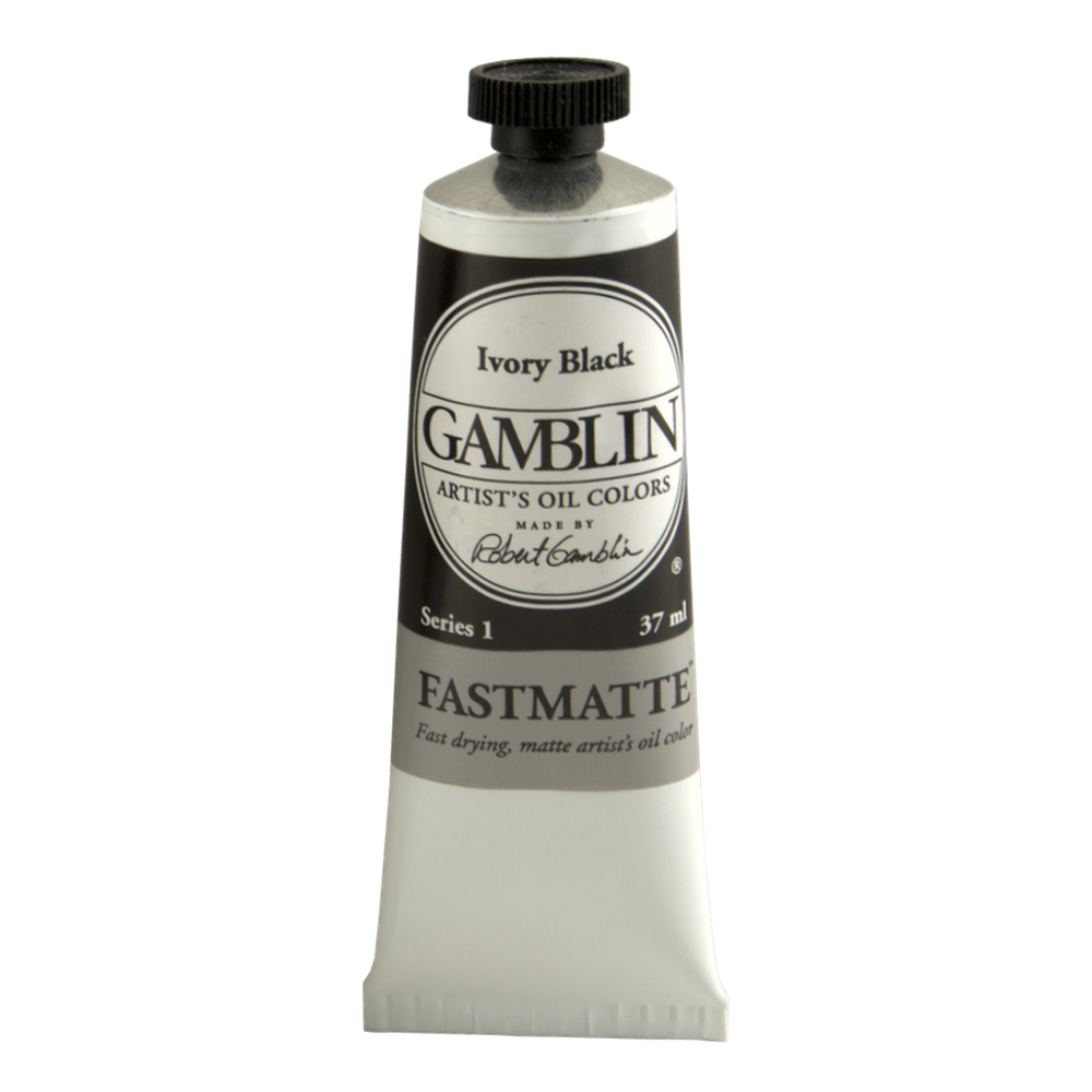 Gamblin Fastmatte Ivory Black 37Ml