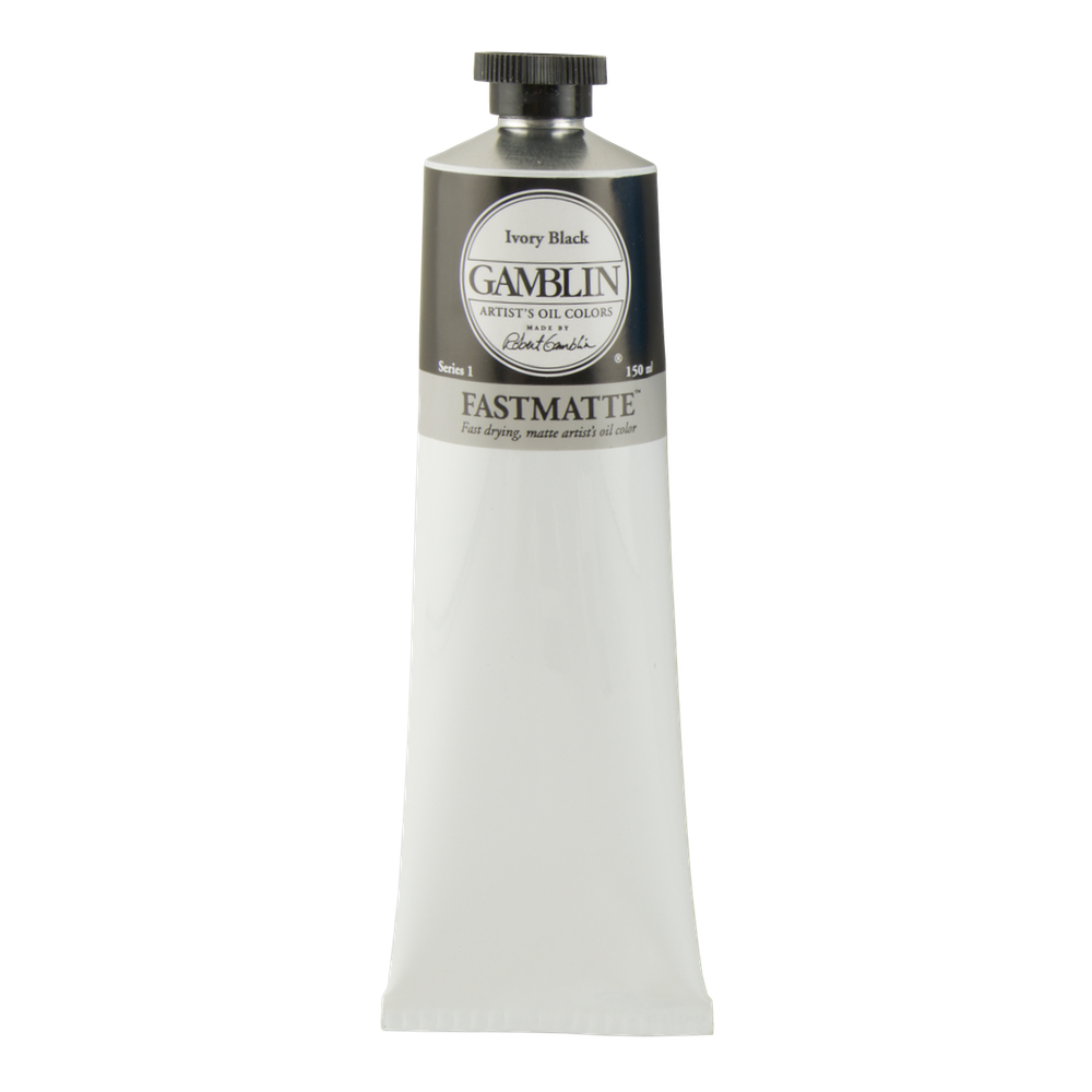 Gamblin Fastmatte Ivory Black 150Ml