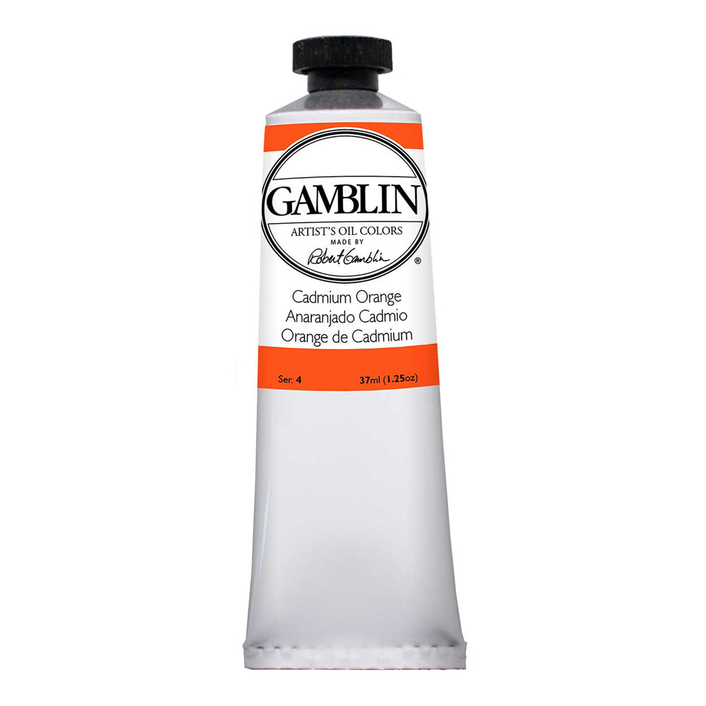 Gamblin Artist Oil 37Ml Cadmium Orange