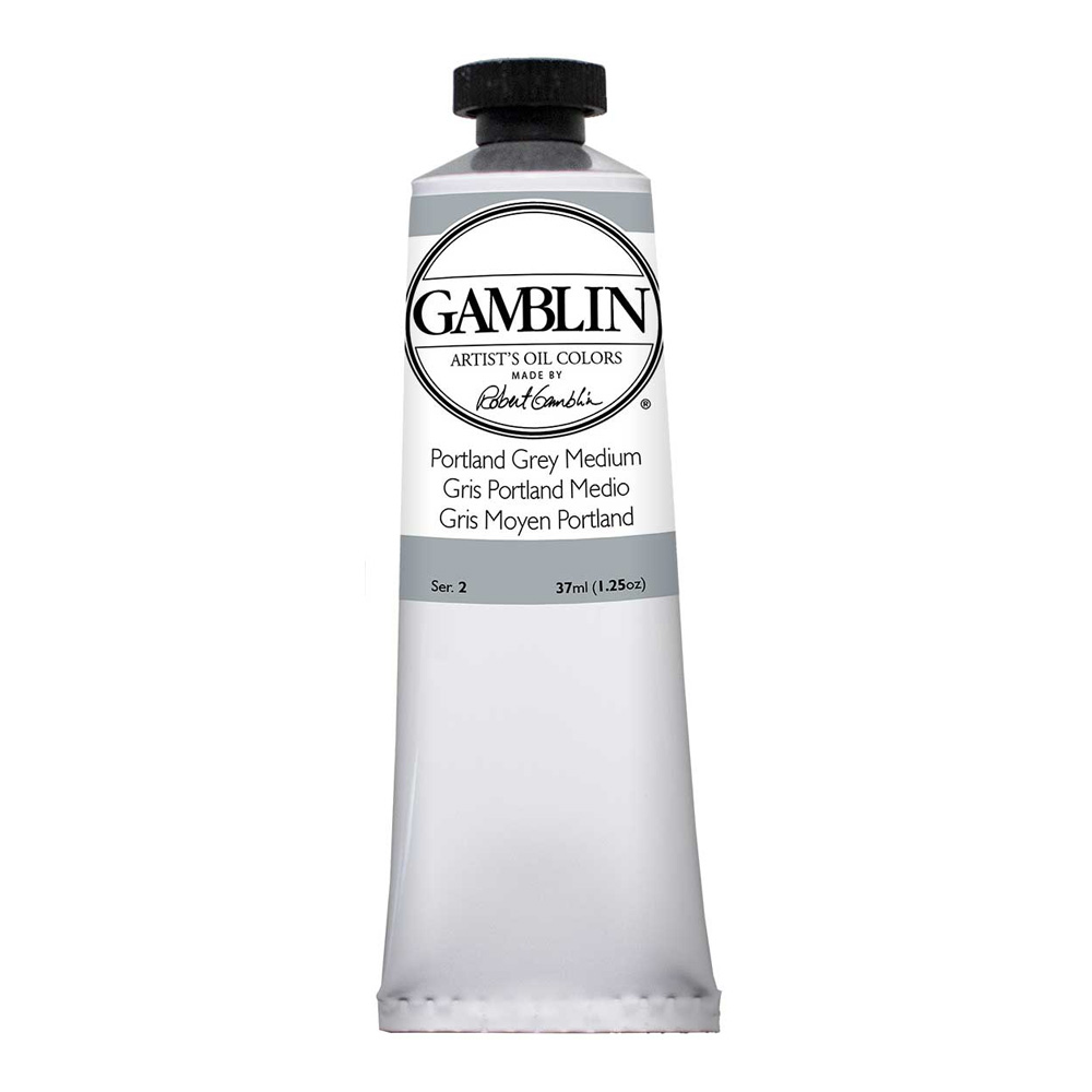 Gamblin Artist Oil 37Ml Portland Grey Med