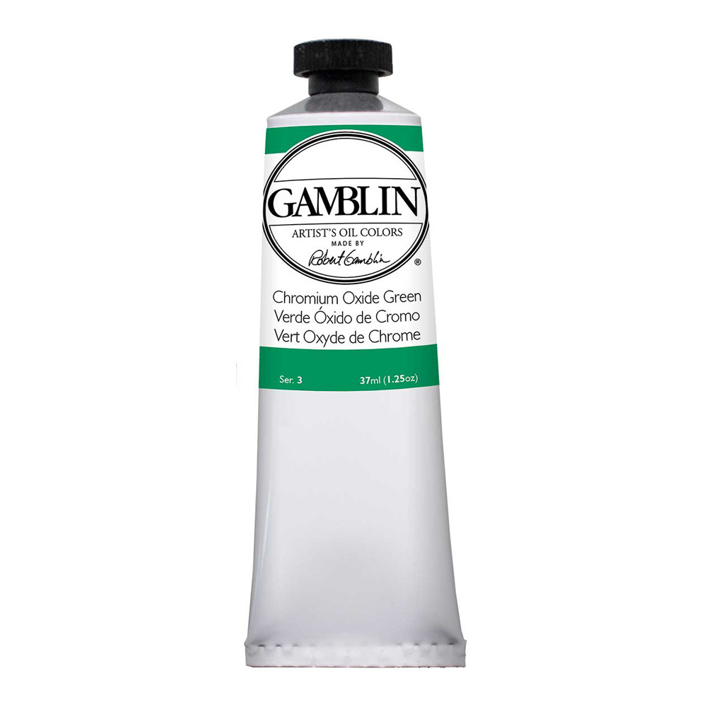 Gamblin Artist Oil 37Ml Chromium Oxide Green