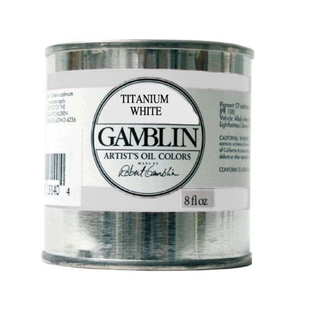 Gamblin Artist Oil 8 Oz Titanium White