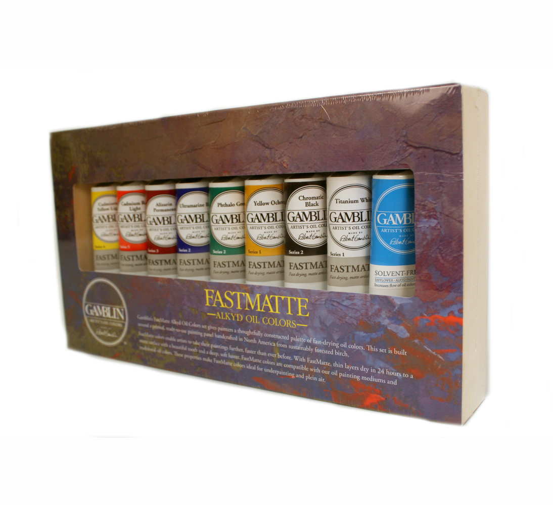Gamblin Fastmatte Alkyd Oil Colors Set