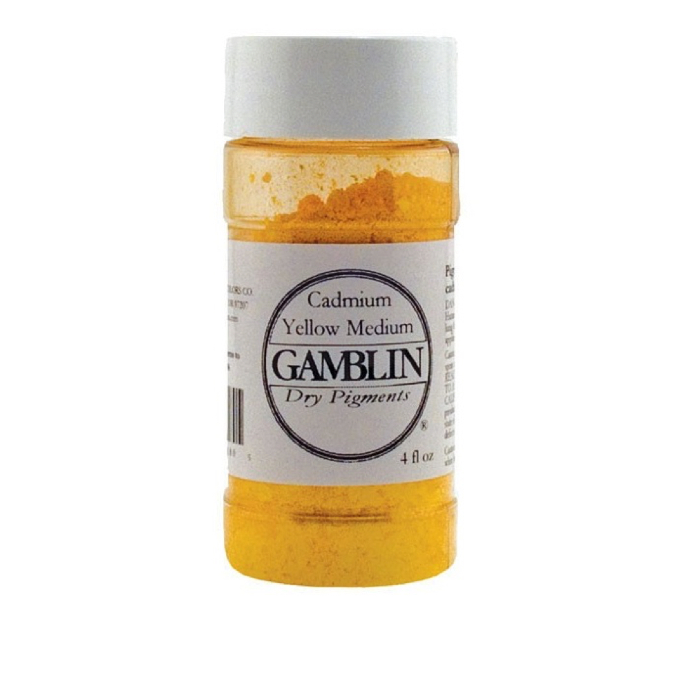 Gamblin Dry Pigment 4 Oz Cadmium Yellow Med