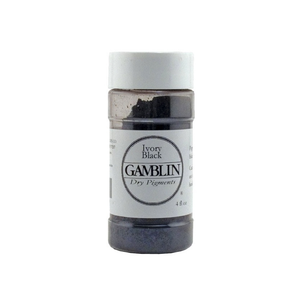Gamblin Dry Pigment 4 Oz Ivory Black