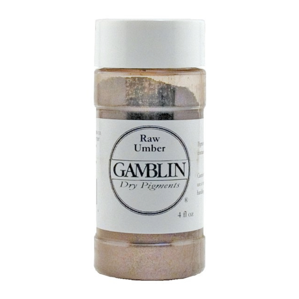 Gamblin Dry Pigment 4 Oz Raw Umber