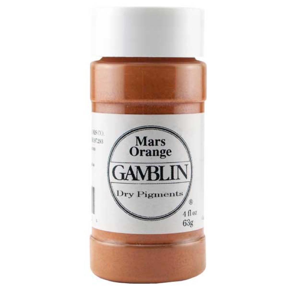 Gamblin Dry Pigment 4 Oz Mars Orange