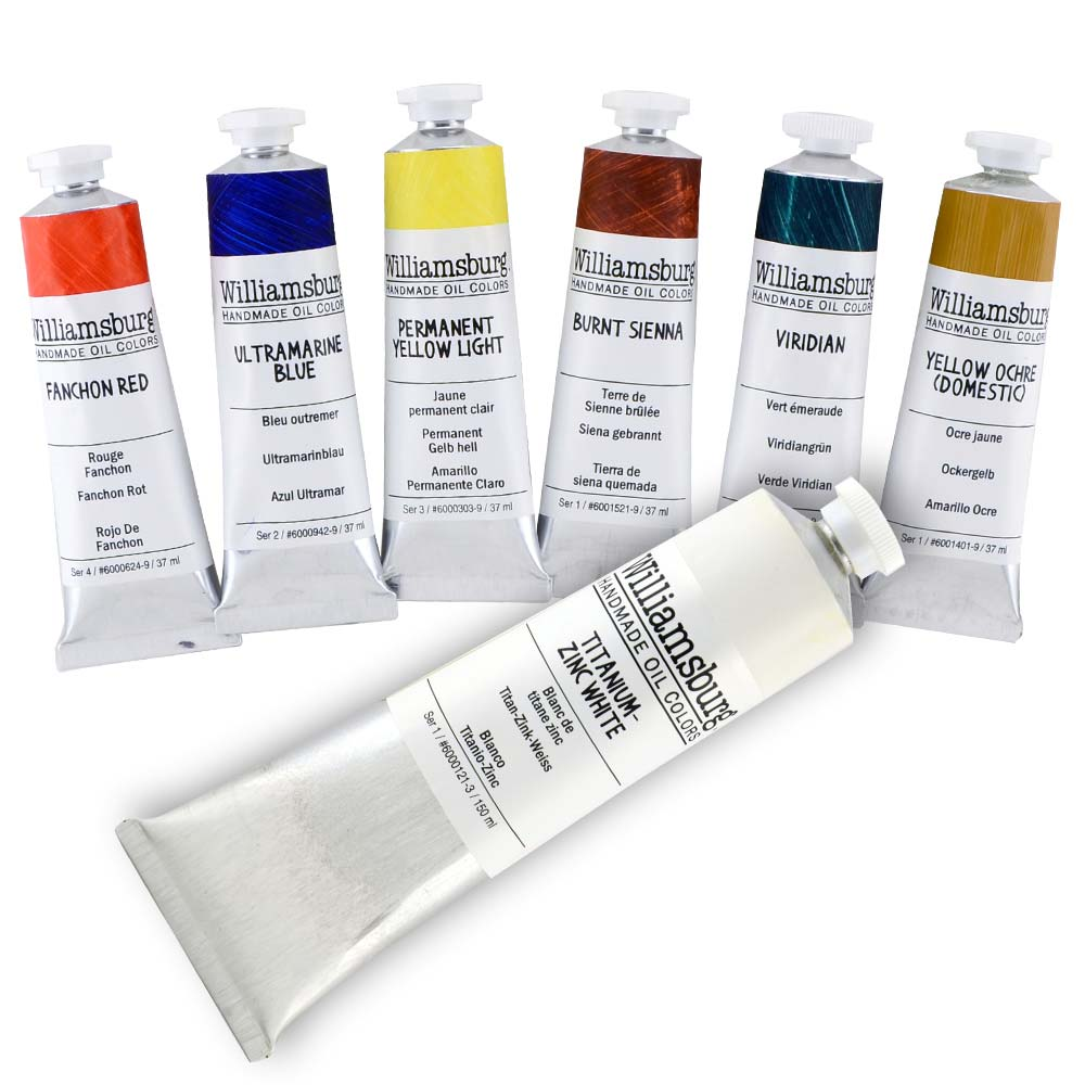 Williamsburg Oil Basic Painting Set 2 Set/7