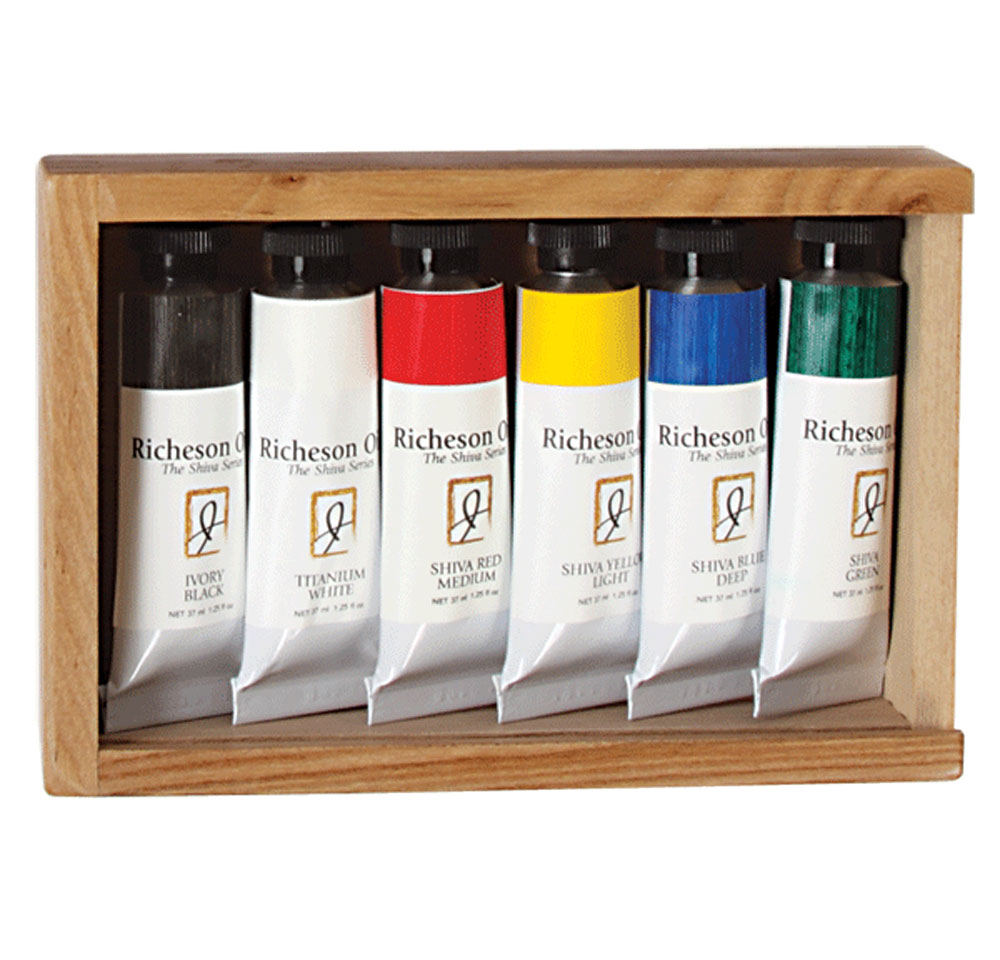 Richeson Oils Wood Box Set/6 Tubes
