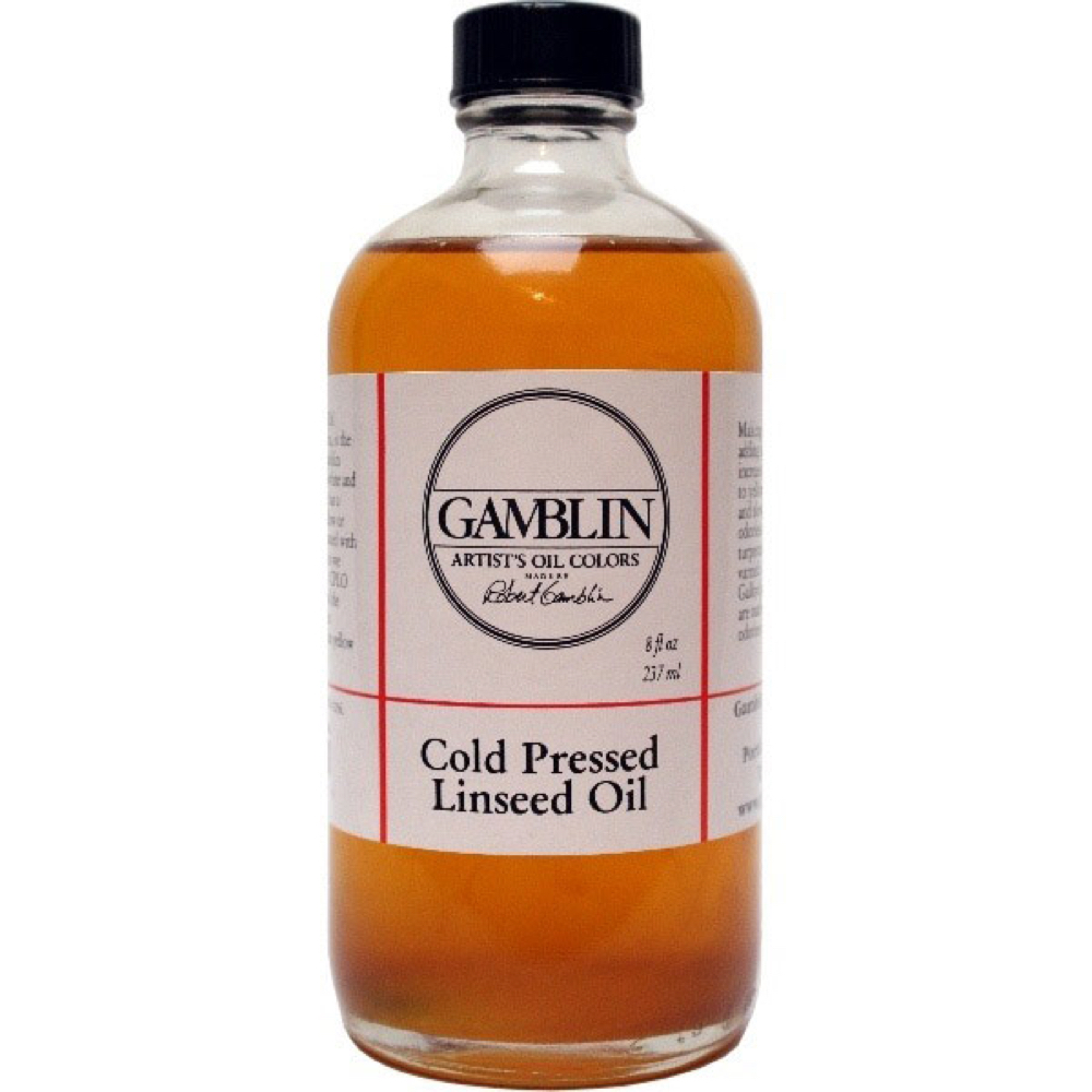Gamblin Cold Pressed Linseed Oil 8 Oz