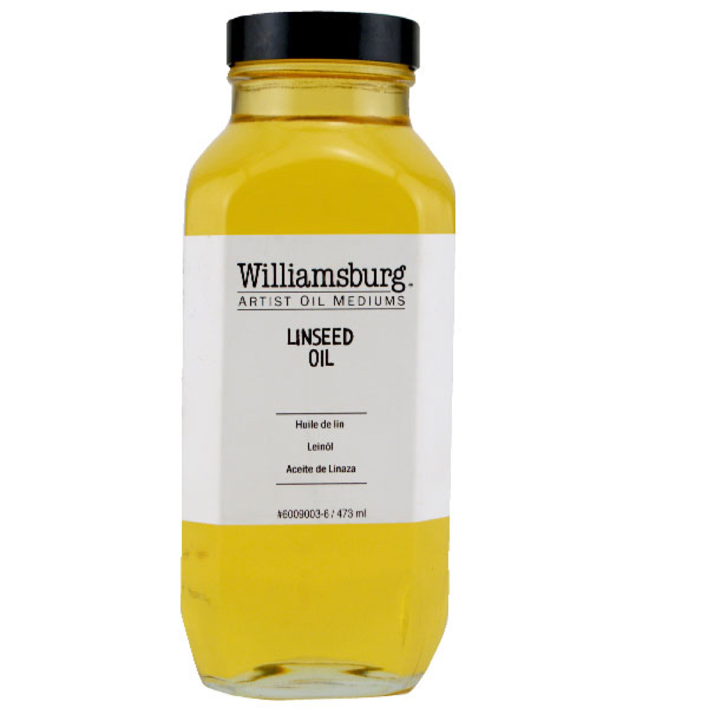Williamsburg Oil Med Linseed 16 Oz