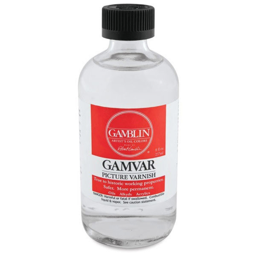 Gamblin Gamvar Pict Varnish 8 Oz Semi-Gloss