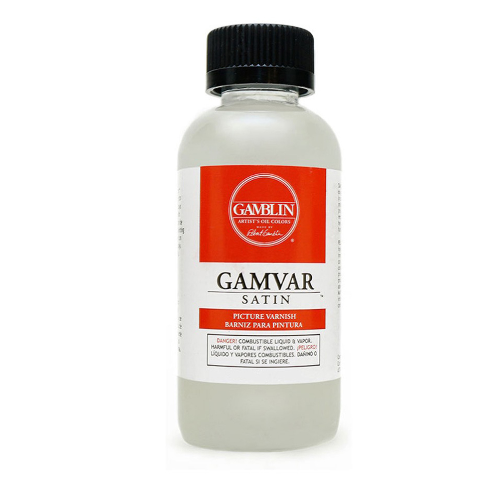 Gamblin Gamvar Pict Varnish 8 Oz Satin