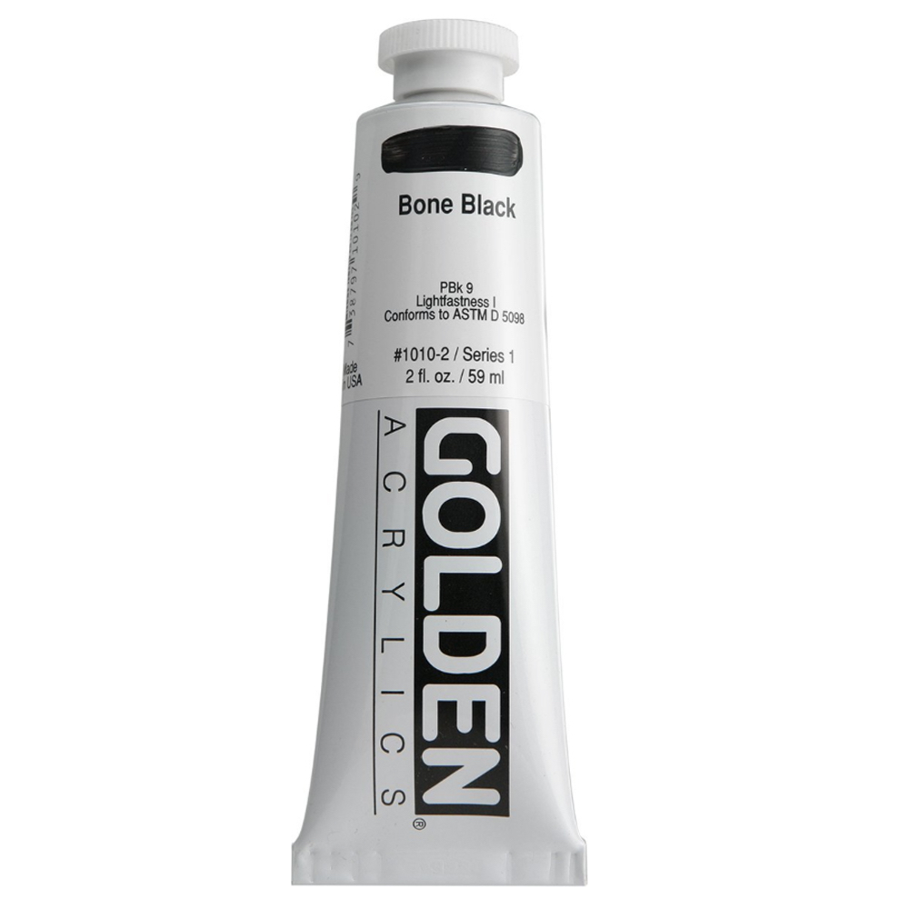 Golden Acrylic 2 Oz Bone Black