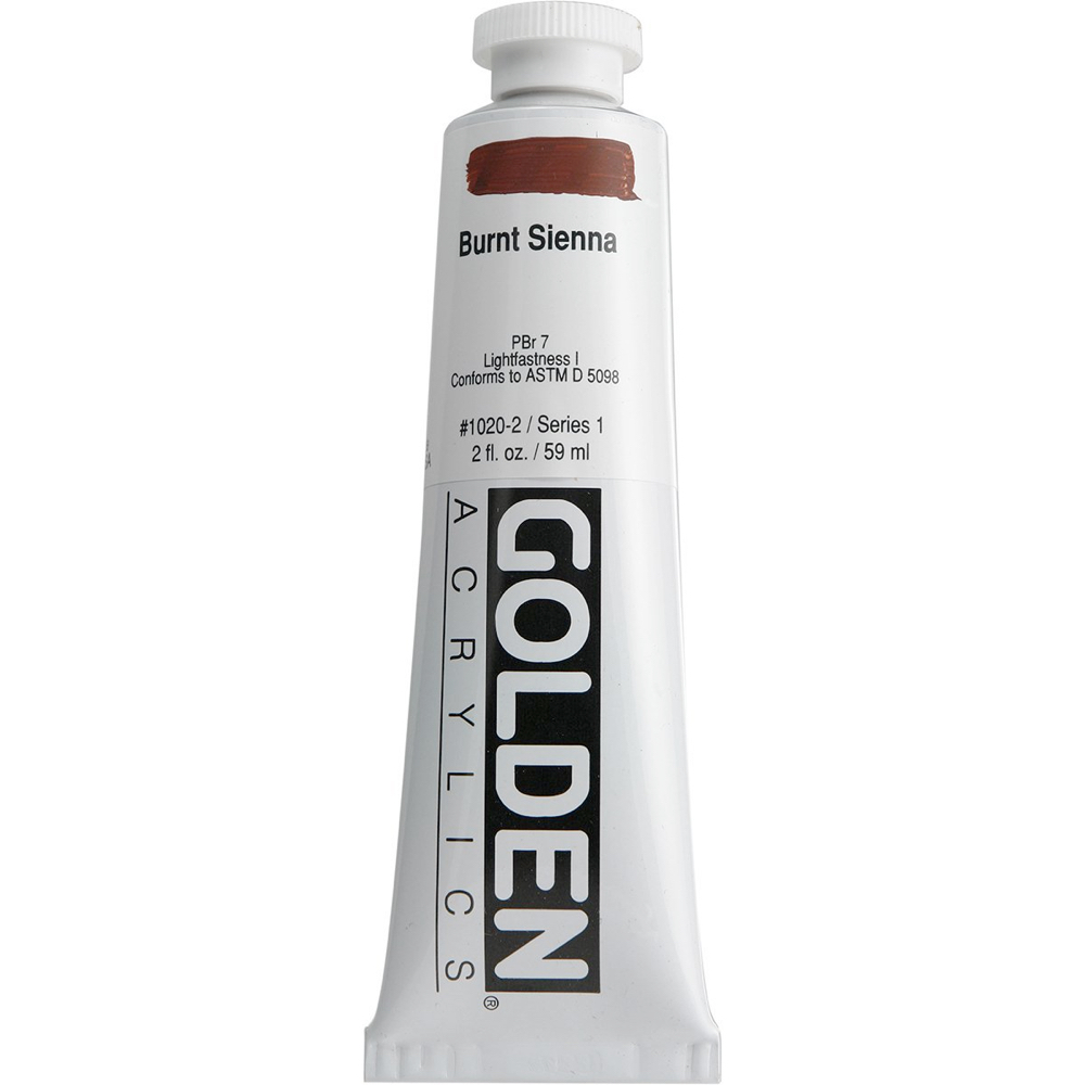 Golden Acrylic 2 Oz Burnt Sienna