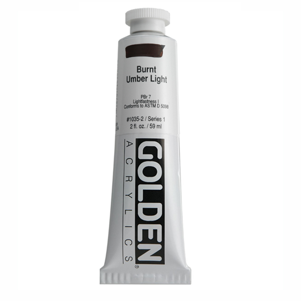 Golden Acrylic 2 Oz Burnt Umber Light