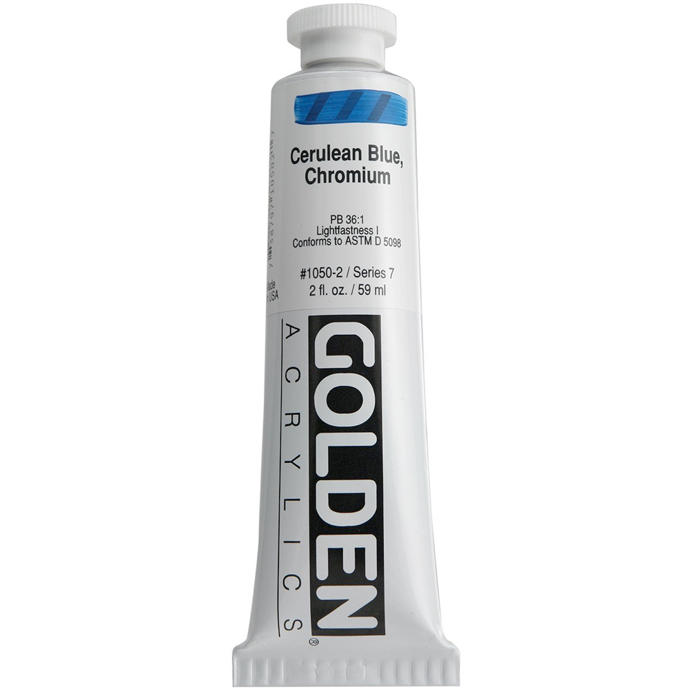 Golden Acrylic 2 Oz Cerulean Blue Chromium