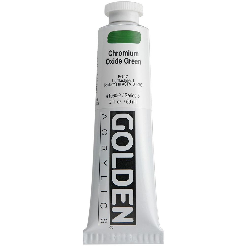 Golden Acrylic 2 Oz Chromium Oxide Green