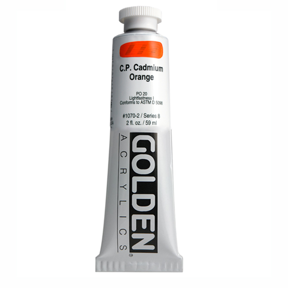 Golden Acrylic 8 Oz Cadmium Orange