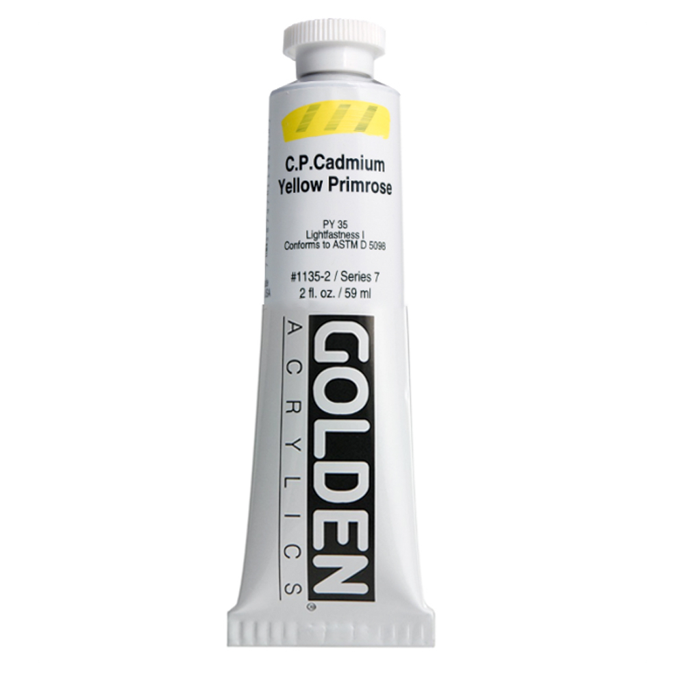 Golden Acrylic 2 Oz Cadmium Yellow Primrose