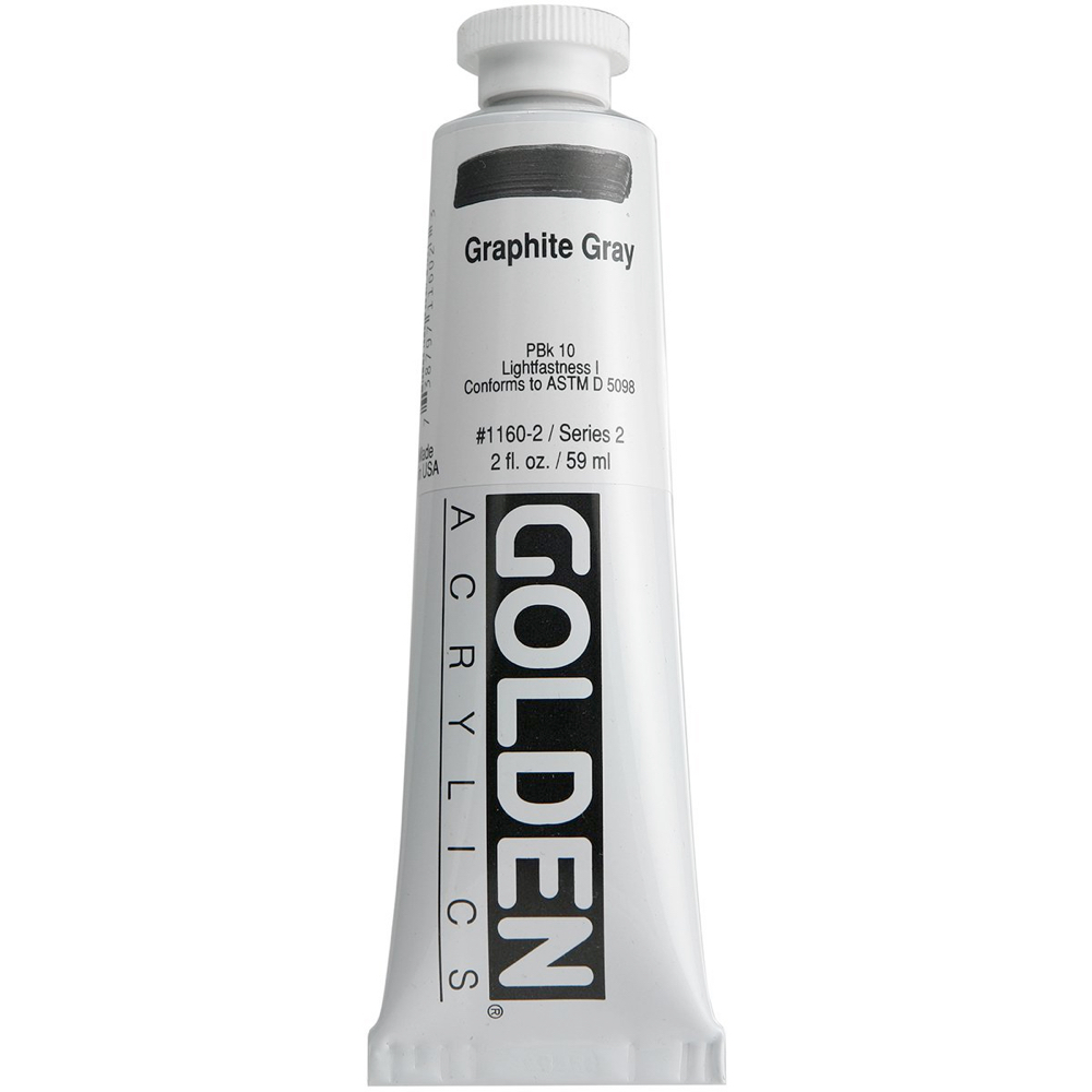 Golden Acrylic 2 Oz Graphite Gray